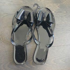 Shoes - Black Bow Sandals